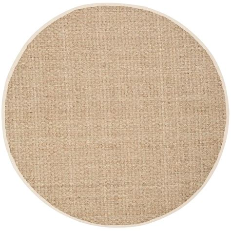 Rounds Rugs Safavieh Fiber Beige Ivory 10 Ft X 10 Ft Area Rug Nf114j 10r The Home Depot