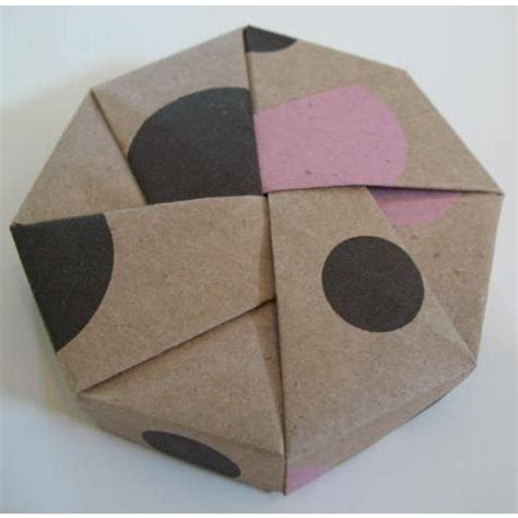 Origami Octagonal Box - tree hugger box origami octagon boxes kraft patterned