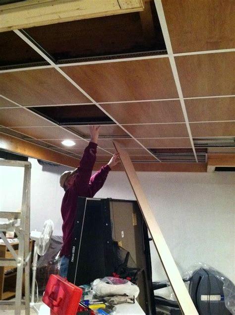 wood panel drop ceiling dime store drop
