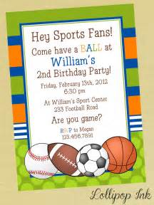 sports printable birthday invitation personalized by lollipopink
