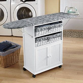 Portable Ironing Board Cabinet by Folding Ironing Board Cabinet 2 Basket Cottage Style