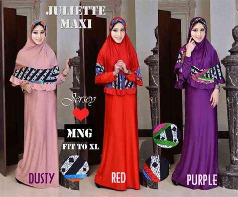 Dress Garis Line Ungu Muda Purple Spandek baju gamis set juliette model busana muslimah syari terbaru