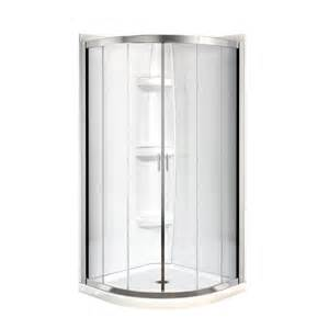 corner shower door kits shop maax intuition neo chrome acrylic wall acrylic