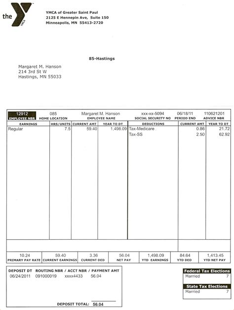pay stub template pdf free 3 pay stub template pdfreport template document report