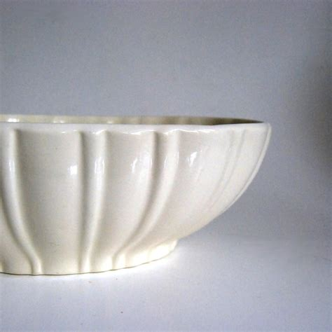 vintage haeger pottery white planter no 40200