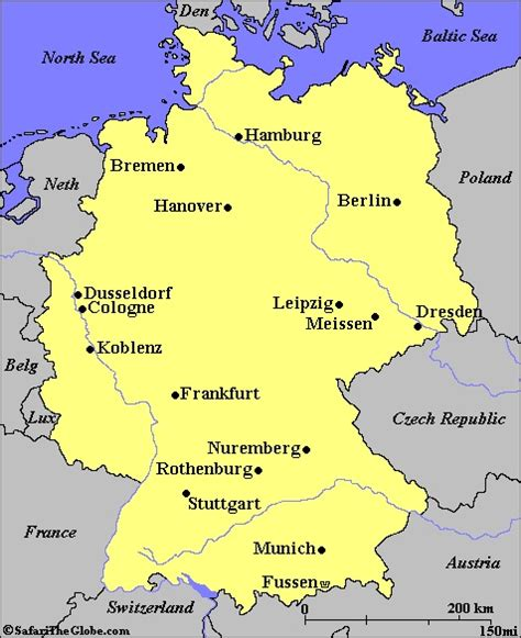 map of germany today germany