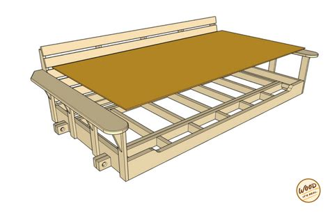 swing bed plans build a porch bed swing plans and video how to wood it