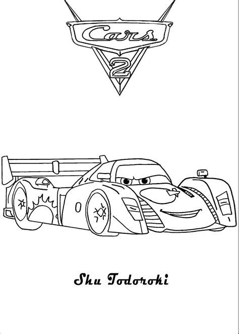 cars 2 coloring pages shu plansa de colorat cu shu todoroki din cars