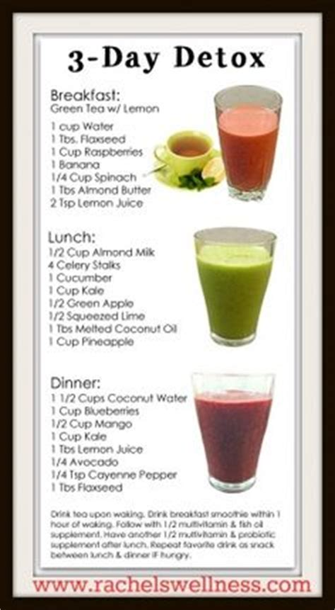 3 Days Detox Juice Diet Plan by 1000 Ideas About 7 Day Detox On 7 Day Detox