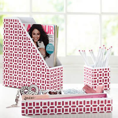 pink desk accessory sets peyton desk accessories set decor by color