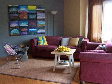 blue and burgundy living room contemporary room with burgundy sofas decorate