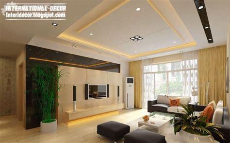false ceiling designs  living room  flat screen tv