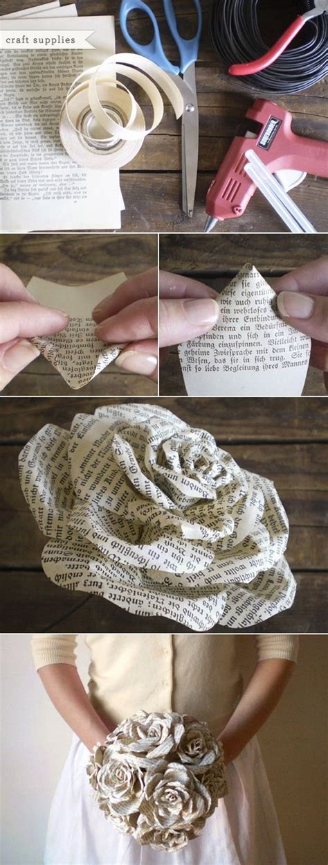 top diy crafts easy and beautiful diy projects made with books noted list