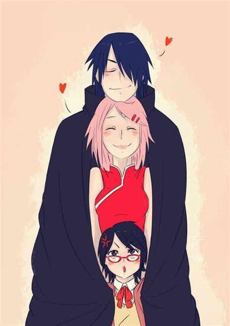 sarada sasuke uchiha and sakura family sasusaku sasuke uchiha family sarada sakura sasuke
