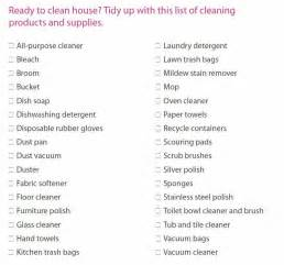 Cleaning Supplies Checklist by Gallery For Gt House Cleaning Supplies List
