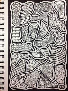 how to draw a tangle doodle part 3 zany zentangles ii by gigijoli on sketch books