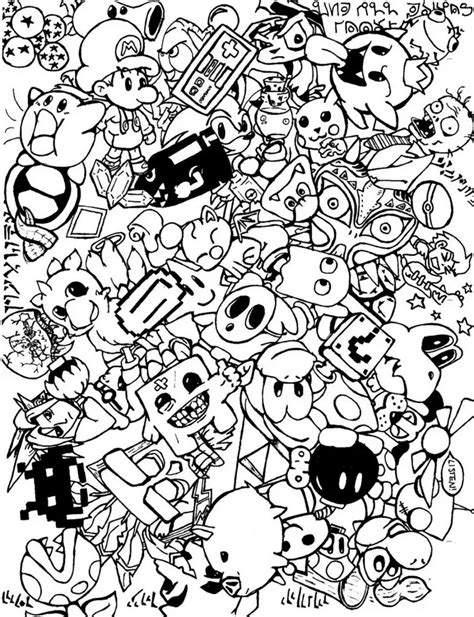 doodle line drawings doodle coloring pages colouring detailed advanced