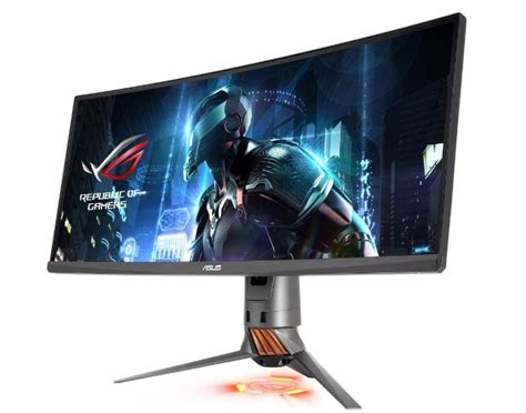 Ultra Wide Monitor asus rog pg348q qhd g sync ultra wide monitor launching soon geeky gadgets