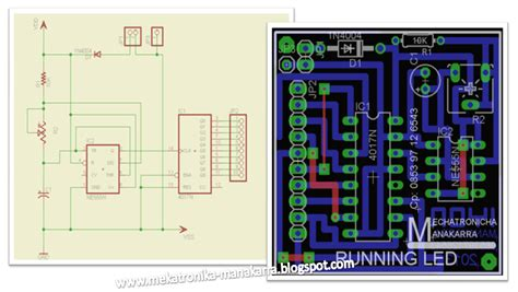 Layout Running Led | mekatronika manakarra membuat lampu variasi running led