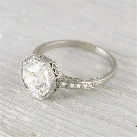 vintage deco rings 2 30 carat vintage deco engagement ring