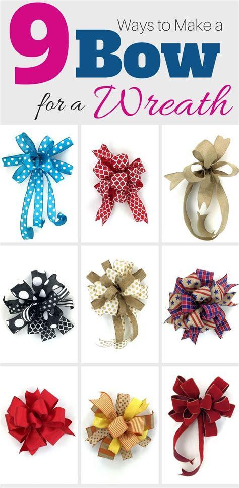 ways    bow   wreath diy inspiration