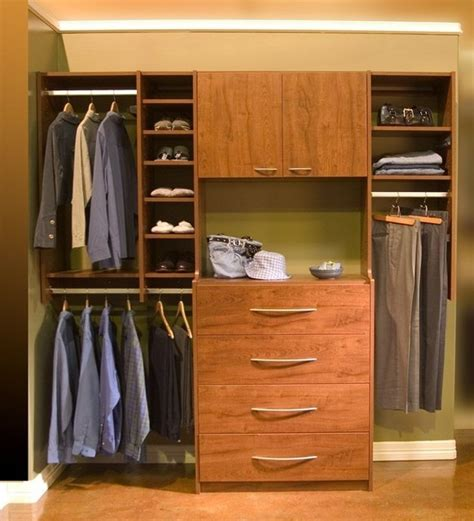 Closet Drawers by Organize To Go His Reach In Closet Organizer With Drawers