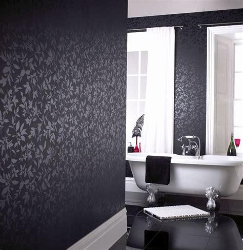 black wallpaper room black wallpaper can make a room makeover a breeze