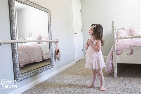 ballet bedroom diy ballet barre and how to hang a heavy mirror