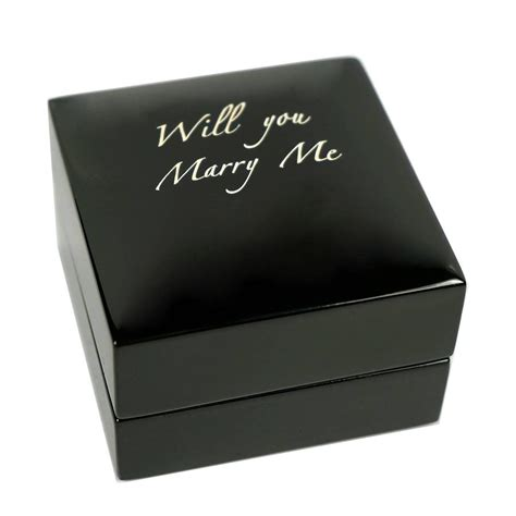 personalised wooden engagement ring box jewellery display gift wedding engraved ebay