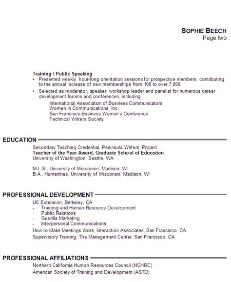 writing education on resume
