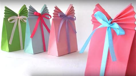 How To Make A Origami Gift Bag - how to make beautiful paper gift bag paper bag origami