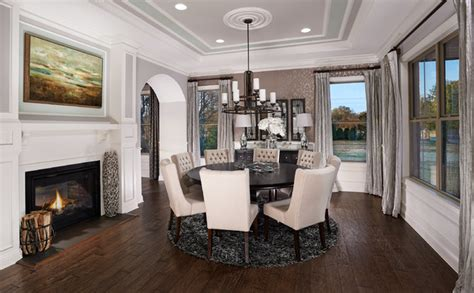 model homes interior design model home interiors transitional dining room other