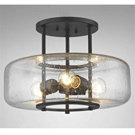 seeded glass light fixtures industial seeded glass ceiling light bronze 3 lt 1811