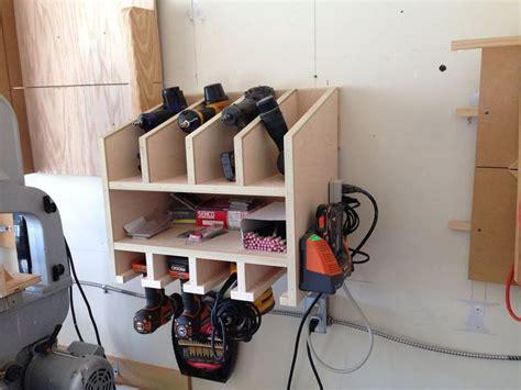 Garage Organization Nails Nail Gun And Drill Holder By Shane306 Lumberjocks