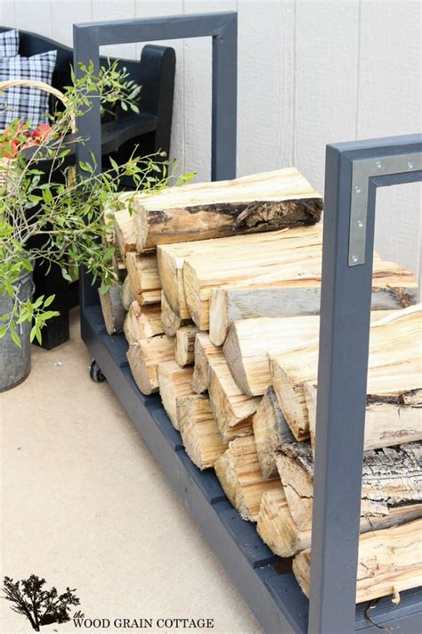 diy firewood rack cover 9 easy diy outdoor firewood racks the garden glove