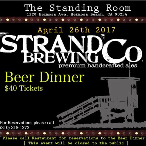 the standing room dinner at the standing room in hermosa south bay events