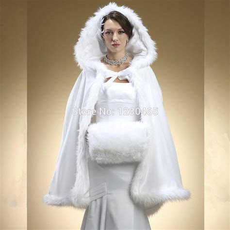 braut mantel 2016 faux fur bridal bolero hooded bridal cape wedding