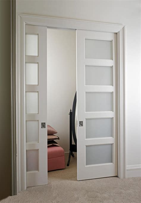 Paint Grade Mdf Interior Doors Trustile Mdf Doors Custom Pocket Door Closet