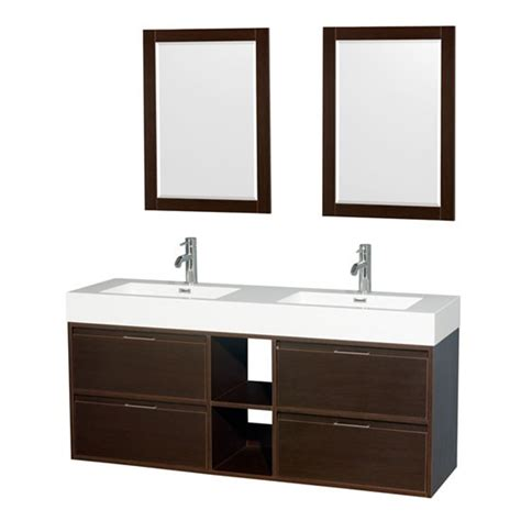 60 in wall mount bathroom vanity set with double sinks wyndham daniella double 60 inch modern wall mount
