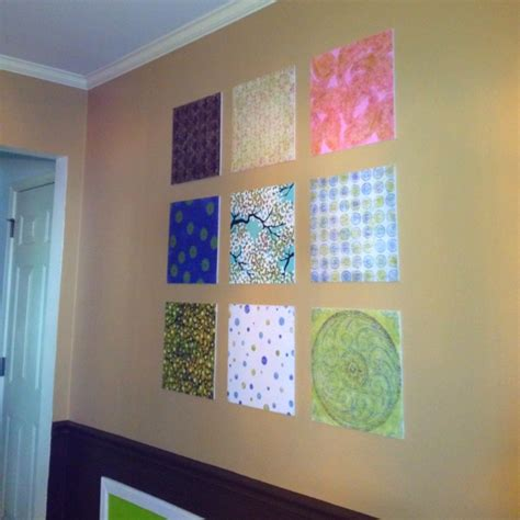 Scrapbook Paper Crafts Ideas - scrapbook paper wall craft ideas