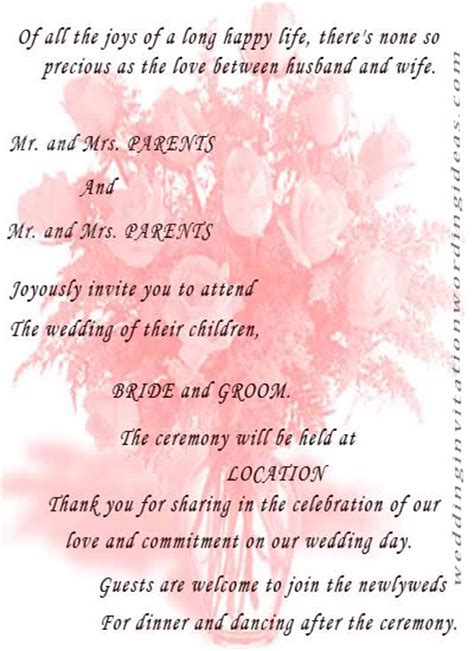 marriage quotes for wedding invitations wedding invitation etiquette wedding invitation exles