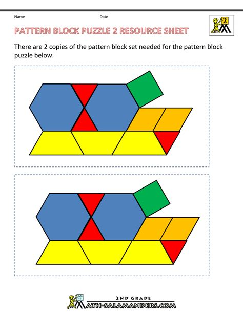 pattern block puzzles math puzzles for kids shape puzzles