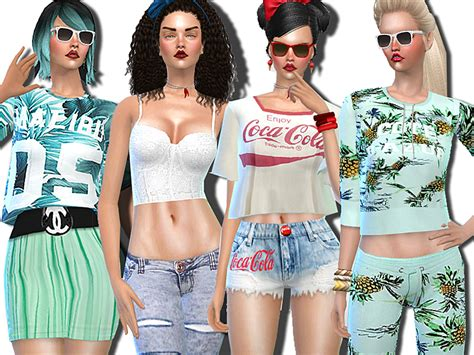 sims 2 clothing the sims resource pinkzombiecupcakes malibu summer mint and company