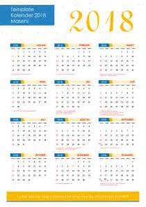 Kalender 2018 Beserta Hari Libur Pdf Template Kalender Indonesia Lengkap Dengan Hari