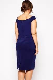 Navy blue plus size lace applique pencil dress lc60393 1