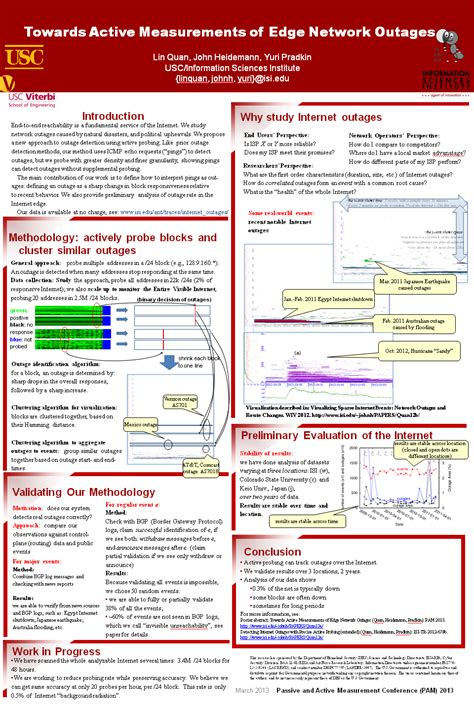 New Poster Poster Abstract Towards Active Measurements Of Edge Network Outages In Pam 2013 Poster Abstract Template