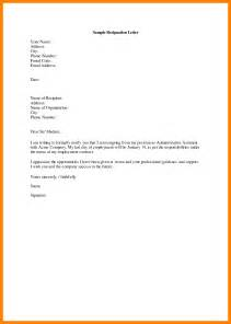Simple Resignation Letter Format by 10 Simple Resignation Letter Sle Janitor Resume