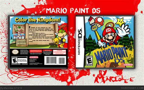 nintendo nes wii custom paint mario paint ds nintendo ds box cover by mariolee