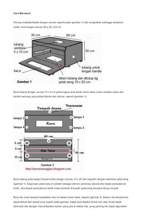 Lubang Sirkulasi Udara Ventilasi Mesin Tetas cara membuat mesin tetas sederhana semi otomatis