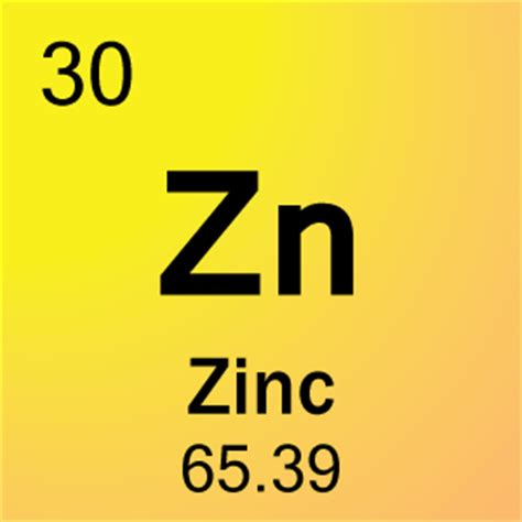 Periodic Table Zn by 30 Zinc Element Cell Science Notes And Projects